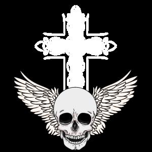 Gothic Kreuz Schädel Dark Gruftie