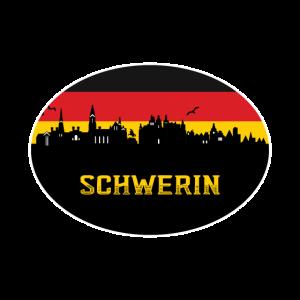 Schwerin Deutschland Flagge Schwerin Deutsche Flagge