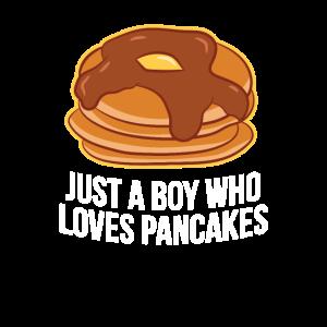 Nur ein Junge der Pfannkuchen Liebt