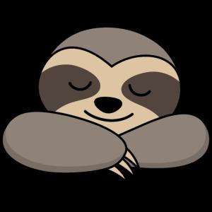 Faultier schlafen müde lustige Tiere Geschenk