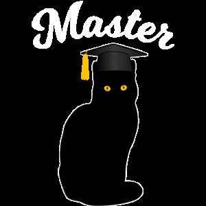 Master Studium Katze Lustiges Abschluss Geschenk