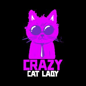 Verrückte Katzenlady