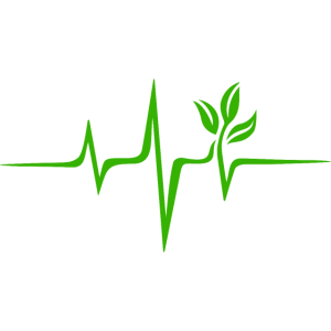 Grüner Herzschlag, Puls, Pflanze Vegan Naturschutz