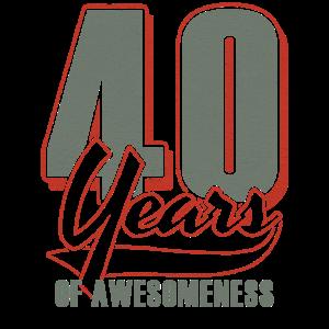 40ter Geburtstag Geschenkidee