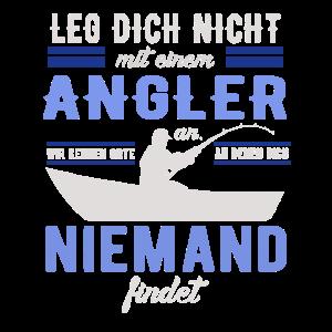 Angler Spruch Angelrute Fischer Geschenk Motiv