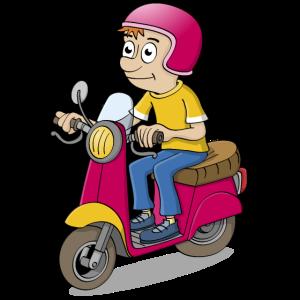 Der Rollerfahrer