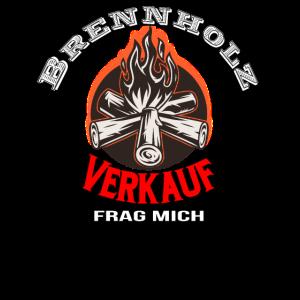 Brennholz verkauf tshirt Kaminholz Holzkohle