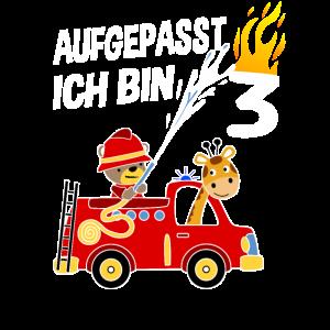 Feuerwehrauto 3. Geburtstag 3 Jahre Geschenk Kind