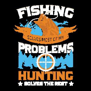 Angler und Jäger Angeln Jagen Jagd Geschenk