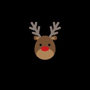 Merry Christmas - Geschenk Weihnachten Rentier