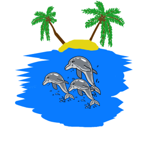Delphin Ozean Fantasy Fische Südsee Insel