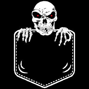 Pocket Skull Skelett Brusttasche