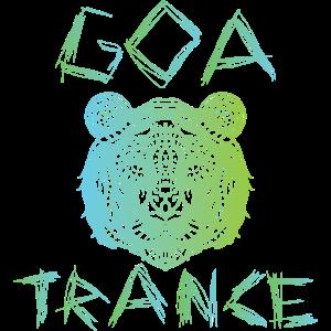 Goa Trance Tiger Geschenk für das Festival