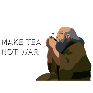 Iroh T-Shirt make TEA not WAR
