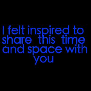 Ich fühlte mich inspiriert zu teilen