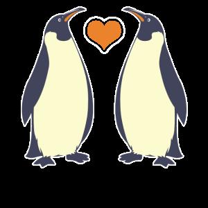 Kaiserpinguin mit Herz