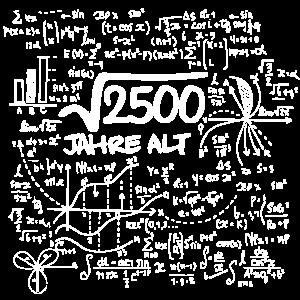 WURZEL 2500 = 50 JAHRE MATHE GEBURTSTAG GESCHENK