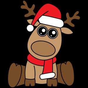 Weihnachten Rentier Aufkleber
