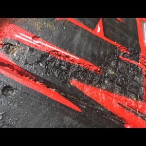 Streetart red and black
