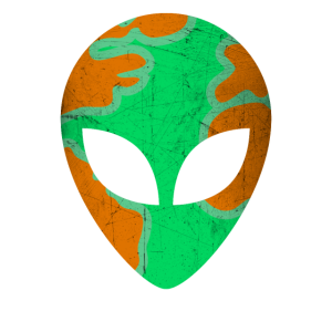 Alien Earth Face Mask Camouflage