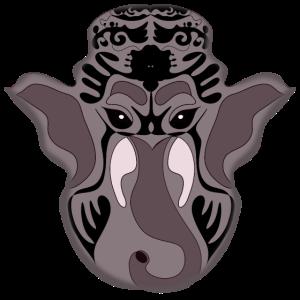 Elefant SPIRITUELL SPIRITUALITAET LINEART GLUECK