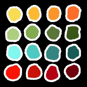 Farben, Kreise, bunt