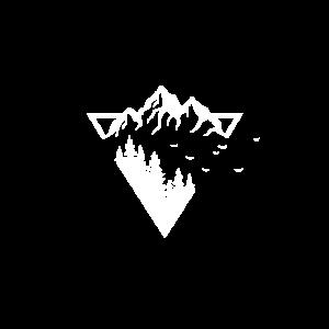 Dreieck Berge Natur Wald
