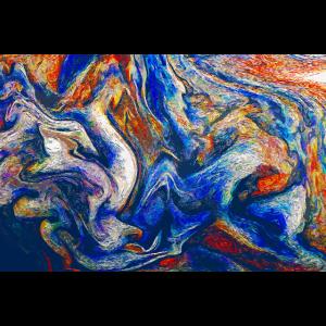 Farbfluss der Emotionen - Abstrakte Kunst