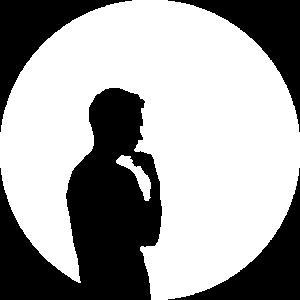 Schwarze Silhouette