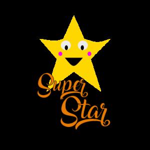 super star lustiges kinderdesign