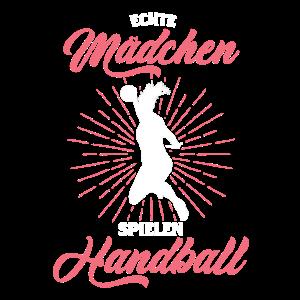 Mädchen spielen Handball Geschenk