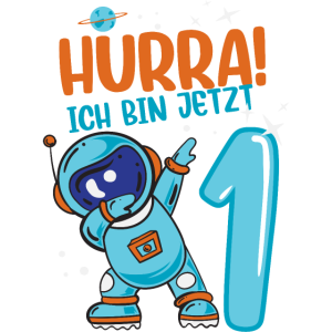 1. Geburtstag 1Jahr Baby Astronaut