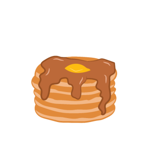 Pancakes and Pajamas Lustiger Pfannkuchen