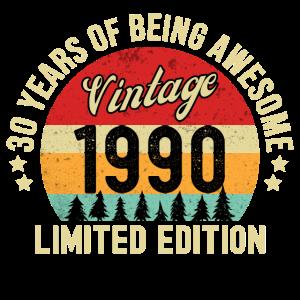 30. Geburtstag Vintage 1990 Limited Edition