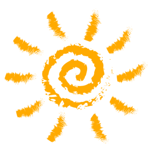 Coole Sonne, Spirale, Sonnenschein, Sommer, Urlaub