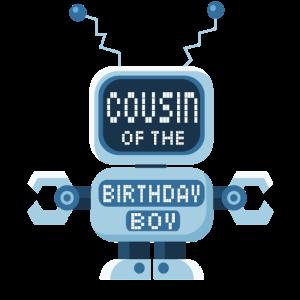 Cousin des Geburtstagskind-Roboterliebhabers Bday Party