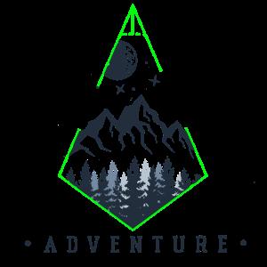 Geometrisches Design Abenteuer Berg