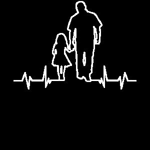 Tochter und Papa, Hand in Hand