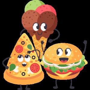 Junk Food Niedlich Pizza Eis Burger