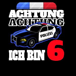 6 Geburtstag Polizei Polizeiauto Junge Geschenk