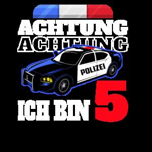 5 Geburtstag Polizei Polizeiauto Junge Geschenk