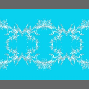 Blauweiße Spitzenkette