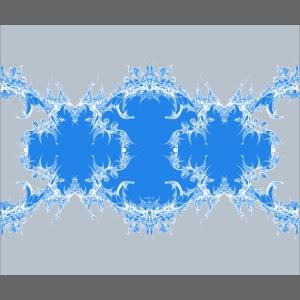 Blaugraue Spitzenkette