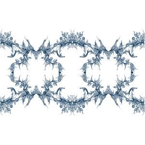 Blaue Spitzenkette