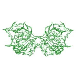 Grüne Spitzenflügel