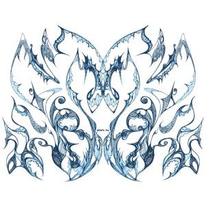 Blaue Tintenspitze