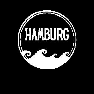 Hamburg Retro Logo Wellen