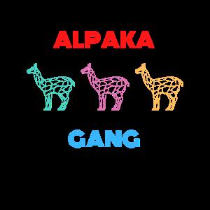 Retro Vintage Alpaka Gang