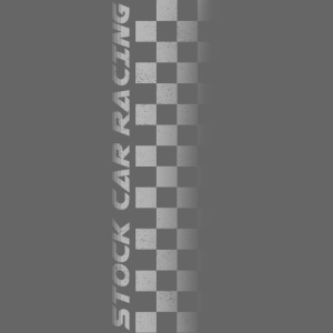 Stock Car Racing chequered flag side design