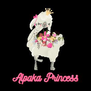 Süßes Alpaka Lama Prinzessin Princess